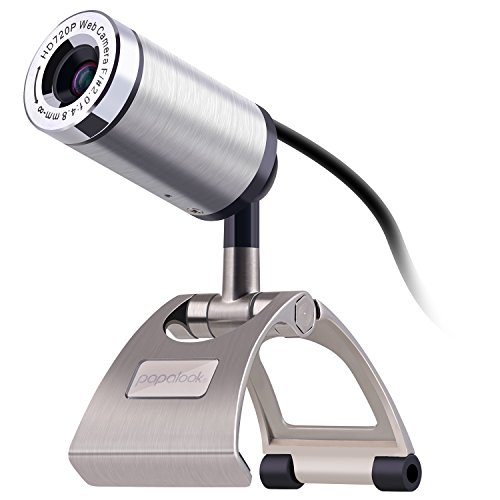 Computer Camera HD PC Webcam papalook PA150 720P Network Security Camera 360 Degree USB Webcam With Built-in MIC for Video Calling and Recording on Skype/ FaceTime / YouTube / Hangouts / On Air