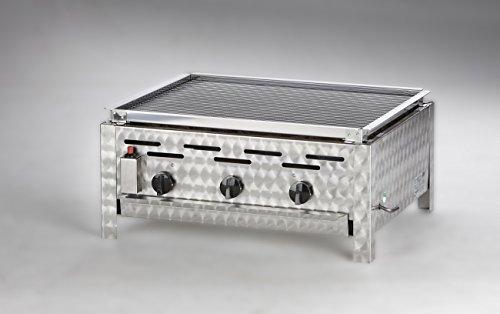 Gasgrill / Gastrobräter für Erdgas mit Lavasteineinsatz