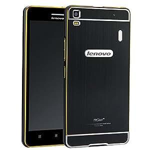 Negro Aluminum Bumper Funda PC Back Case y Protector de Pantalla Para Lenovo S8 A7600 Vooway® MS00093