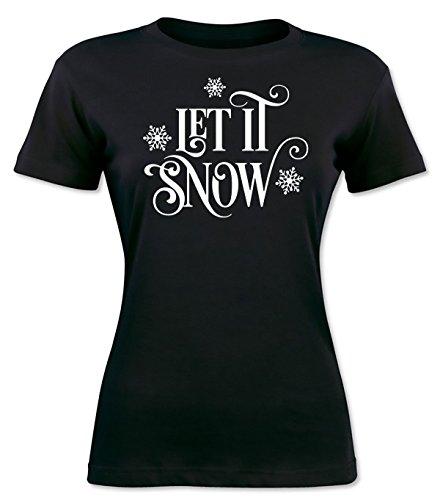 Let It Snow Snowflakes Design Women's T-shirt