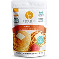 Good Dee's Pancake Mix – Allulose Sweetened, Low carb, Keto friendly, No sugar alcohols, Gluten free, Grain Free, Diabetic friendly, WW Friendly, 1g net carbs, 20 pancakes