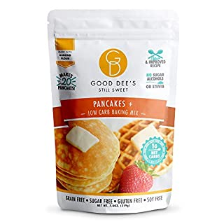 Good Dee's Keto Pancake, Waffle & Scone Mix - Allulose sweetened, low carb, gluten free, grain free, 1g net carb, 20 pancakes