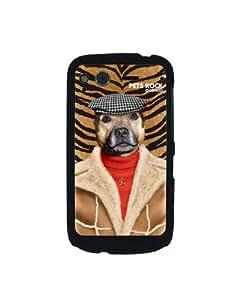 Pets Rock Dog Boy Charicature - Carcasa para HTC Desire S