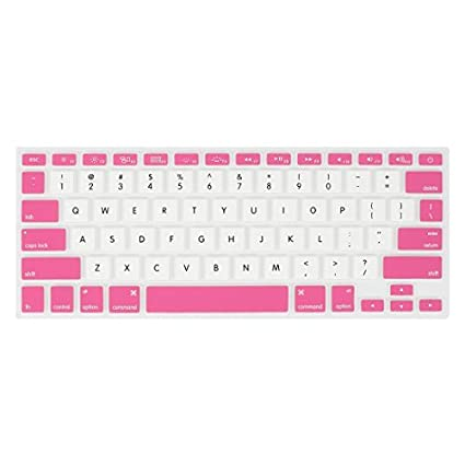 eDealMax Blanco Rosa PC protectora de la piel del teclado de Cine Para Apple MacBook Air