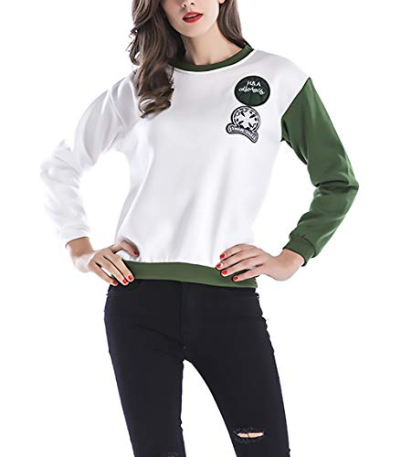 À Longue Termica Automne Tops Sweat Large Mode Hiver Blanc Élégant Chemise Femme Vintage Splice Manches Pull Décontracté Shirt Longues Capuche RnAFqwRxd0