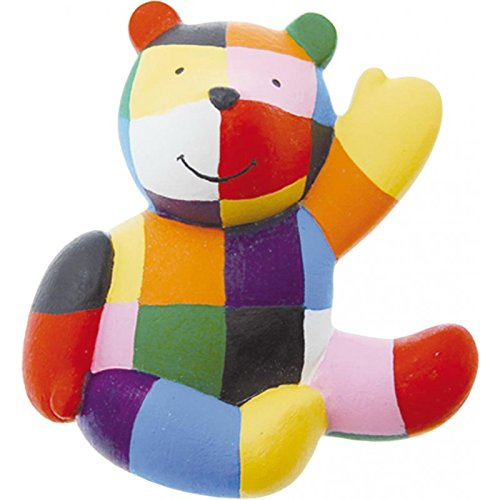 Plastoy SAS PLA70041 Elmer The Patchwork Elephant's Teddy Bear Magnetic Figurine