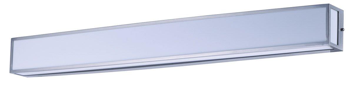 浴室洗面化粧台1ライト電球器具サテンニッケル仕上げステンレススチールとオパールアクリル素材PCB電球49インチ35ワット   B07DB5HL9T