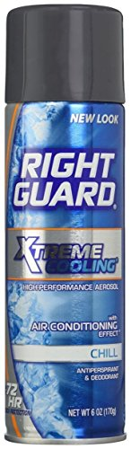 "PACK OF 6! Right Guard Xtreme Cooling ""Chill"" Spray Antiperp"