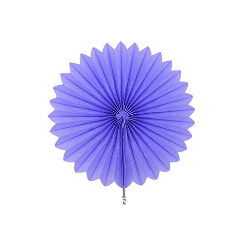 Party Decoration Decorative Wedding Party Paper Crafts 4'' 12'' Paper Fans DIY Hanging Tissue Paper Flower for Wedding Birthday Party Festival,Pf22 Lavender,8Inch]()