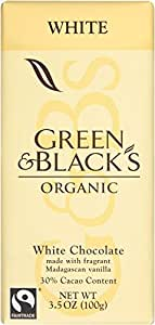 Green & Black's Organic White Chocolate with Vanilla, 30% Cacoa, 3.5 Ounce Bars (Pack of 10)
