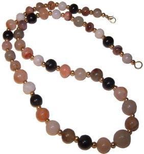 Collar ágatas colorido piedras semi preciosas aprox. 60 cm perlas curativas cuentas esotérico