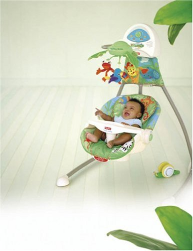 amazon com fisher price cradle n swing rainforest stationary rh amazon com fisher price rainforest cradle swing weight limit Rainforest Swing Parts
