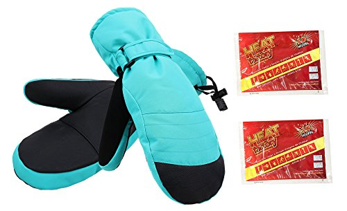 ThunderCloud Women's Alpine Ski Mittens w/ Handwarmer Pocket,Robin Egg (Robin Adult Gloves)