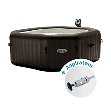 Pack Spa gonflable Intex Pure Spa Jets et Bulles 6 personnes + Aspirateur  nettoyeur à batterie c860781bbb01