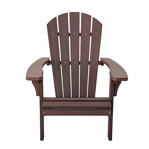 Shine Company 7618CB Royal Palm Adirondack Chair, Chateau Brown