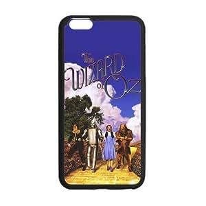 LeonardCustom- The Wizard of Oz Black / White Hard Flexible TPU Rubber Case for iPhone 6 Plus (5.5 inch) -LCI6PU588