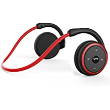 Levin Bluetooth 4.2 Headphones Neckband Wireless Sports Headset Over-Ear Earbuds with Sweatproof, Hi-Fi Stereo,Built-in Microphone and 12 Hours Playtime(Red)