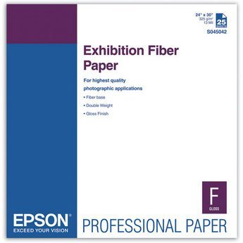 Epson Exhibition Fiber Glossy Inkjet Photo Paper 24'' x 30'' 25 Sheets S045042 by Epson