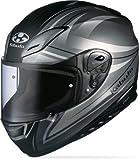 Kabuto Aeroblade III Graphic Helmet , Gender: Mens/Unisex, Helmet Type: Full-face Helmets, Helmet Category: Street, Distinct Name: Linea Flat Gun, Primary Color: Gray, Size: 2XL XF-3-74-10682X