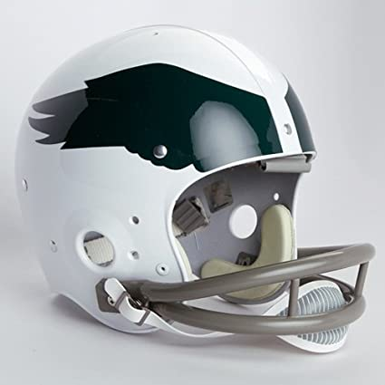 new arrival 2cc59 785b8 NFL Riddell Philadelphia Eagles White 1969-1973 Throwback Suspension  Full-Size Helmet