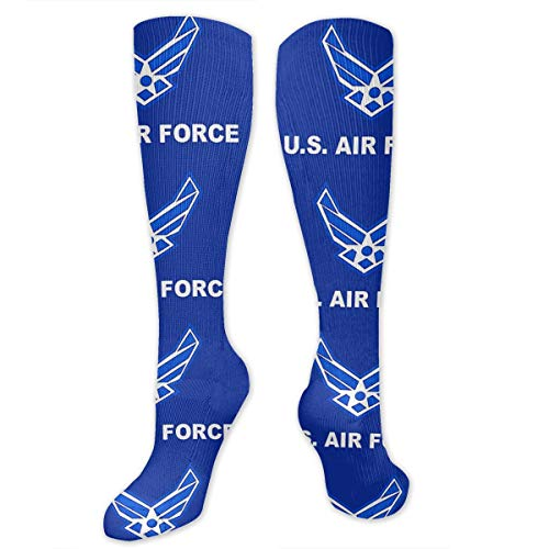 Air Force Military Flag Outer Space Infinity Galaxy Universe Printed Men's/Women's Comfortable Casual Funny Long Knee High Socks Compression Socks Winter Warm Soccer Socks