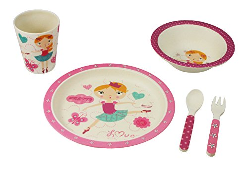 EcoBamboo Ware Kid's Ballerina Dinnerware Set with Tumbler, -