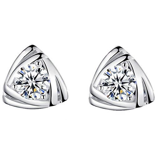 silver earrings_women earrings_ silver earrings 925 ladies creoles mother's day gift jewelry_ women's earrings silver 925_Cubic Zirconia Earrings