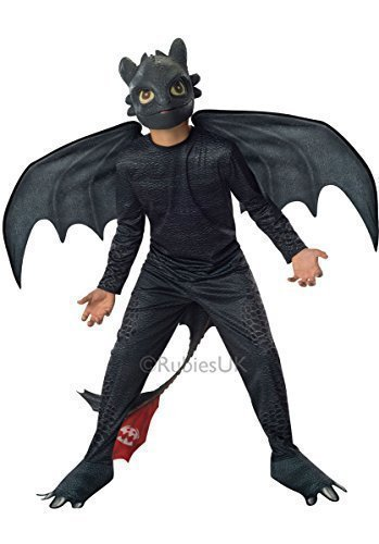 Rubies 610103 Dragon 2 Toothless Costume - Toothless - Small - 3-4 Yrs by Fancy Me