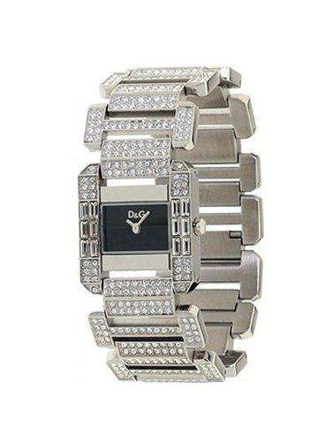 D&G DW0218 - Reloj de Señora movimiento de cuarzo con brazalete metálico negro