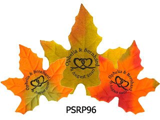 Personalized Silk Maple Fall Leaves 100pcs