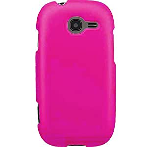 Hot Pink Rubberized Protector Case for Samsung Gravity Q T289