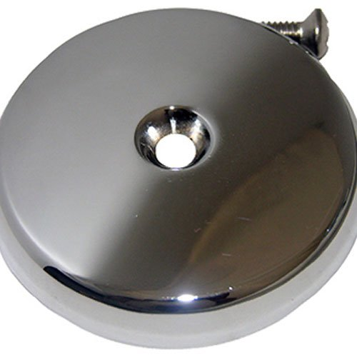 LASCO 03-1429 One Hole Style Bathtub Waste And Overflow Plate, with Screw, Chrome Plated
