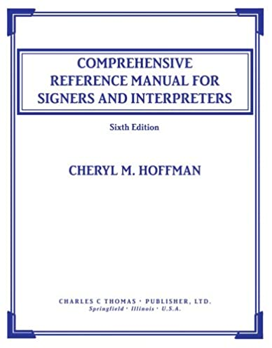 comprehensive reference manual for signers and interpreters cheryl rh amazon com VA Manual Reference PC Manual Reference