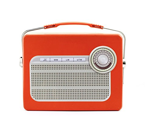 Kikkerland CU211RD Radio Tin Lunch product image