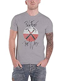 T Shirt The Wall Faded Hammers Logo Official Mens Grey