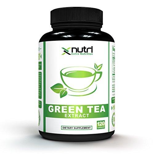 XNutri - Premium Green Tea Extract 500mg Supplement With EGCG - 120 Capsules