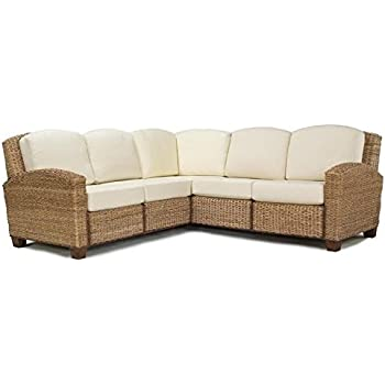 Home Styles 5401-62 Cabana Banana L-Shaped Sectional Sofa, Honey Oak Finish