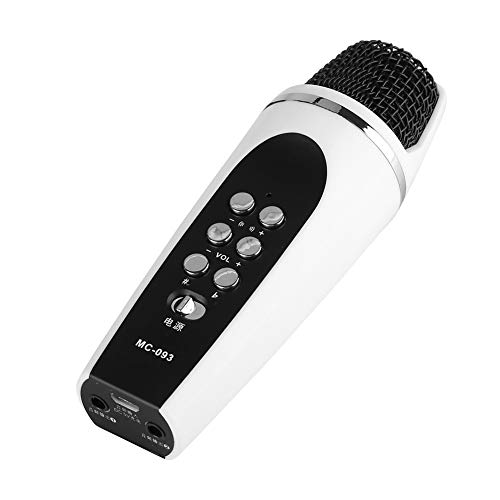 (Pokerty Mini Microphone, Mini 4-Mode Voice Changer Microphone Camouflage Different Voice for Phone/Android Smartphone Cellphone PC)