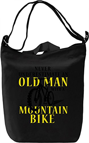 Never Underestimate An Old Man Borsa Giornaliera Canvas Canvas Day Bag| 100% Premium Cotton Canvas| DTG Printing|