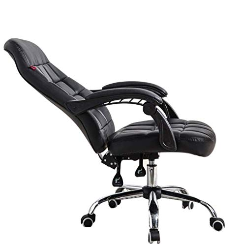 Sillas Gaming Silla de Ordenador hogar Confortable Oficina Silla reclinable heces Silla giratoria Silla Esports Ancla (Color : Black)