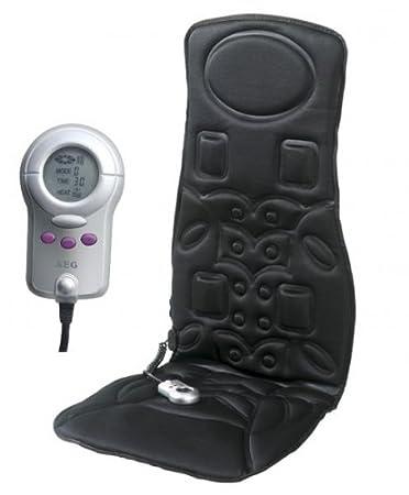 AEG 520568 beheizbare Massage-Matte MM 5568 für 12V und 230V Betrieb, mit 6 Zonen, 8 Programmen, inklusiv Fernbedienung mit digitalem Multifunktions-Display