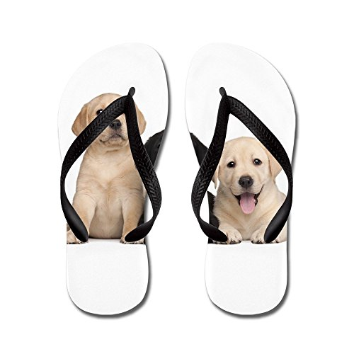 CafePress Labrador Puppies - Flip Flops, Funny Thong Sandals, Beach Sandals Black