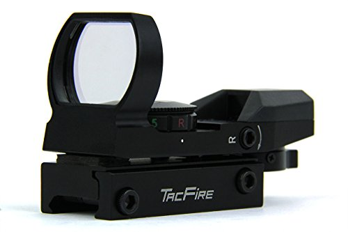 TacFire Holographic Red and Green Dot Sight Tactical Reflex 4 Different Reticles in Black