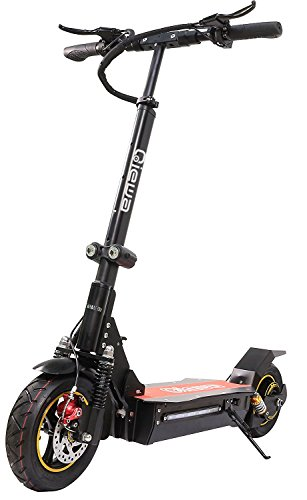 QIEWA Q1Hummer 800Watts 37MPH Electric Scooter with Dual Disk Brakes Max Driving Range Up to 65 Miles,550lbs Max Load Weight with 26Ah 48V Lithium Battery
