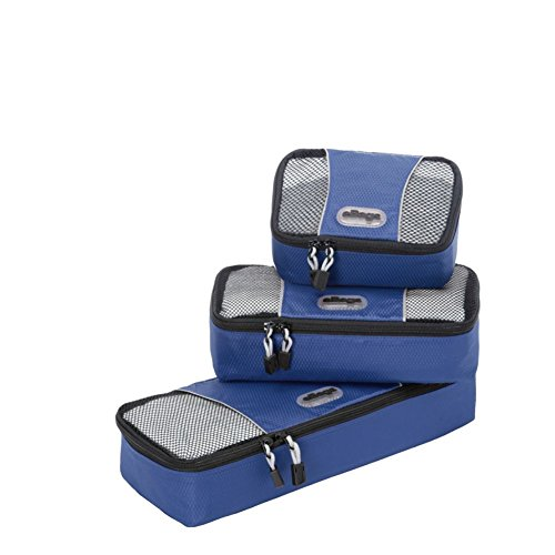 eBags Slim Packing Cubes - Assorted 3PC Set (Denim)