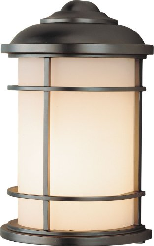 Feiss OL2203BB Lighthouse Outdoor Lighting Wall Pocket Sconce, Bronze, 1-Light (7