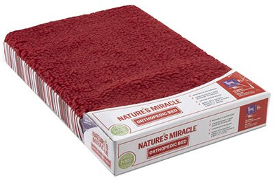 Nature's Miracle Orthopedic Pet Bed, 20 by 13 by 2.5-Inch (NM-5407)