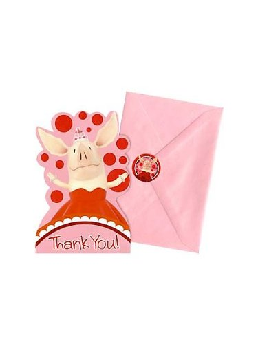 Olivia Postcard Thank You - 8/Pkg.