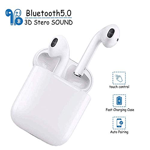 Bluetooth Wireless Headphones 5.0 in-Ear Earbuds,Wireless Earbuds,Noise Canceling Sports Headset IPX7 Waterproof,Pop-ups Auto Pairing with Charging Case, for Apple Airpods pro/Android/iPhone/Samsung
