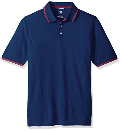 Cutter & Buck Men's 35+ UPF Lightweight Cotton Advantage Tipped Polo Shirt, Nautical/Virtual, XX-Large